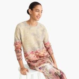 NWT J. Crew Collection Impressionist Art Sweater